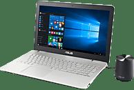 ASUS N551VW-FY196T, Notebook mit 15.6 Zoll Display, Core i7 Prozessor, 8 GB RAM, 256 GB SSD, GeForce GTX 960M, Silber