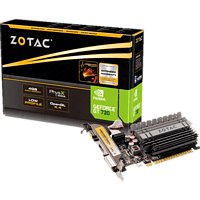 ZOTAC GeForce® GT 730 Low Profile 4GB (NVIDIA, Grafikkarte)