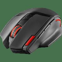 TRUST GXT 130 Gaming Maus, Schwarz/Rot