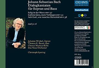 Johanna Winkel, Christoph Spering, Chorus Musicus Köln, Das Neue Orchester, Bauer Thomas E. - Dialogkantaten Für Sopran Und Bass  - (CD)