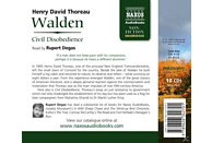 Rupert Degas - Walden/Civil Disobedience - (CD)
