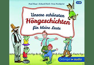 Maar, Paul,  Dietl, Erhard,  Nordqvist, Sven - Unsere Schönsten Hörgeschichten Für Kleine Leute  - (CD)