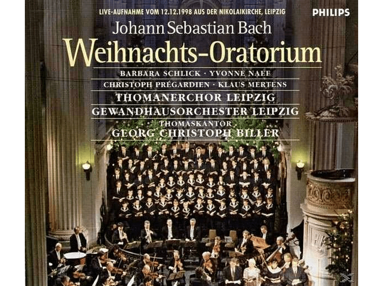 Christoph Prégardien, Gewandhausorchester Leipzig, Thomanerchor Leipzig, Klaus Mertens, Schlick Barbara, Yvonne Naef - Weihnachts-Oratorium [CD]