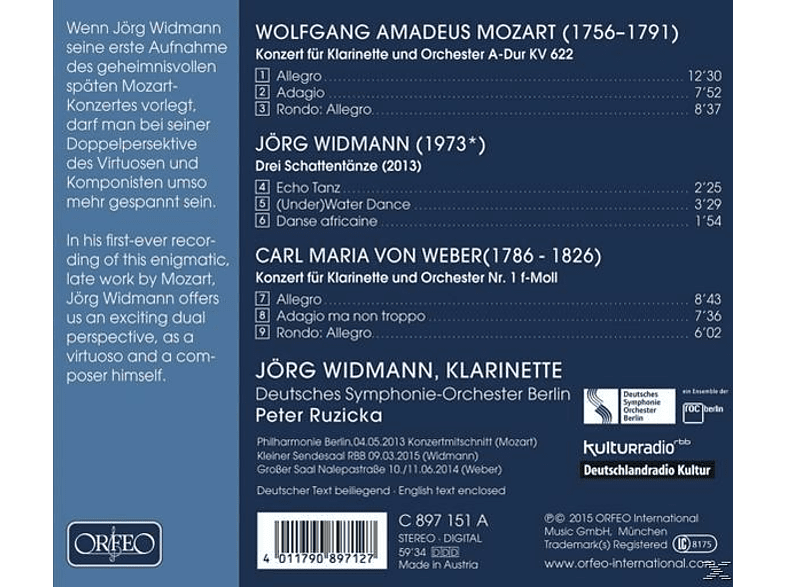 Widmann Jörg/Ruzicka - Klarinettenkonzerte [CD]
