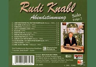 Knabl Rudi - Solo 2-Abendstimmung  - (CD)