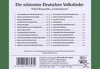 Vokal - Volkslieder, Die Schönsten Deutschen  - (CD)