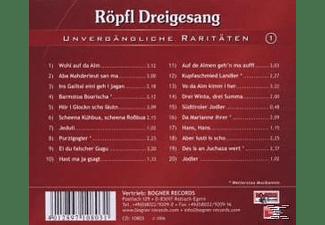 Röpfl Dreigesang - Unvergängliche Raritäten 1  - (CD)