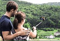 HAMA Selfie 120 Einbein Stativ, Schwarz, Höhe offen bis 1200 mm