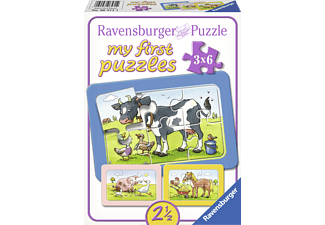 RAVENSBURGER Kinderpuzzle - Gute Tierfreunde Puzzle Mehrfarbig
