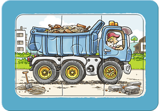 RAVENSBURGER Kinderpuzzle - Bagger, Traktor und Kipplader Puzzle Mehrfarbig
