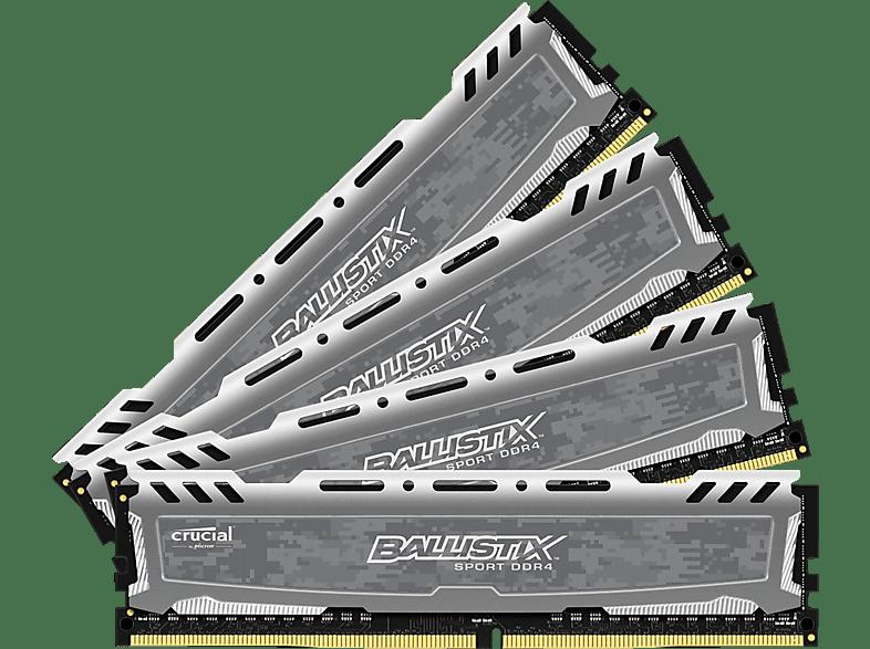 BALLISTIX Ballistix Sport LT 16GB Kit DDR4 4GBx4 2400 DIMM 288pin grey Arbeitsspeicher 16 GB DDR4