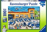 RAVENSBURGER 108671 Polizeirevier Puzzle, Mehrfarbig