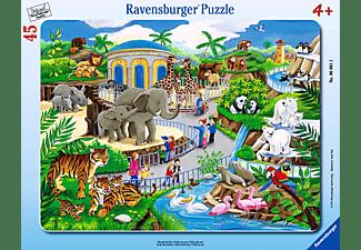 RAVENSBURGER Kinderpuzzle - Besuch im Zoo Puzzle Mehrfarbig