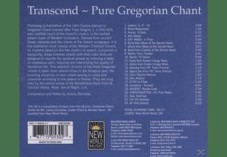 Pure Gregorian Chant - Transcend  - (CD)