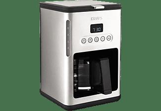 KRUPS KM442D Premium Kaffeemaschine Edelstahl/Schwarz