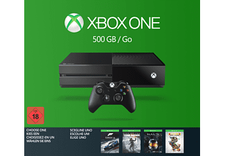 MICROSOFT Xbox One 500GB inkl. 1 von 4 Spielen (Rise of the Tomb Raider, Forza 6, Halo: MCC oder Rare Replay)