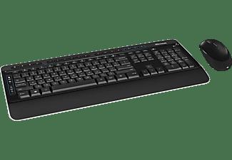 MICROSOFT Wireless Desktop 3050, Tastatur & Maus Set, Schwarz