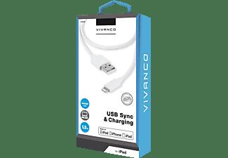 VIVANCO 33902 Datenkabel Apple/ Universal Geräte mit Lightning Anschluss, Weiß