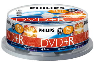 PHILIPS Pack 25 DVD+R 4.7 GB 16x (DR4S6B25F/00 )