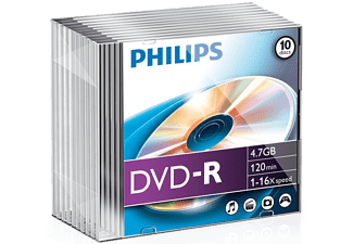 PHILIPS Pack 10 DVD-R 4.7 GB 16x (DM4S6S10F/00)