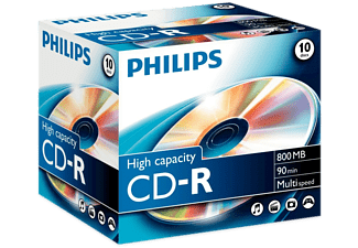 PHILIPS Pack 10 CD-R 800 MB 52 x (CR8D8NJ10/00)