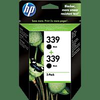HP 339 Tintenpatrone 2er-Pack  Schwarz (C9504EE)