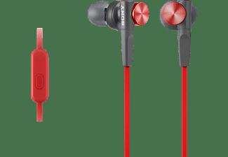 SONY MDR-XB50AP Extra Bass, In-ear Kopfhörer Rot