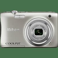 NIKON COOLPIX A100 Digitalkamera Silber, 20.1 Megapixel, 5x opt. Zoom, LCD