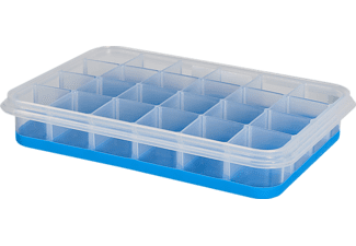 EMSA 514549 Clip & Close 2.0 Eiswürfelbox Transparent/Blau
