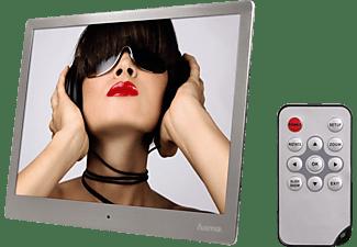 HAMA Digitaler Bilderrahmen Slimline Basic 97SLB mit Fernbedienung, 9.7 Zoll, 150cd, Silber