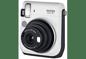 Cámara instantánea - Fujifilm Fuji Instax Mini 70 Wh, Pantalla LCD, Modo selfie, Blanco