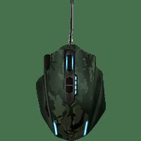 TRUST GXT 155C Gaming Maus, Grün/Camouflage