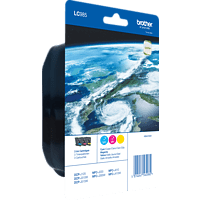 BROTHER LC-985 Tintenpatrone Rainbow Pack mehrfarbig (LC-985RBWBPDR)