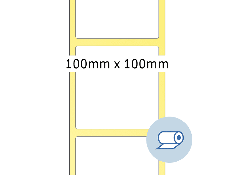 HERMA 5017 Rollenetiketten  100x100 mm  1000 St.