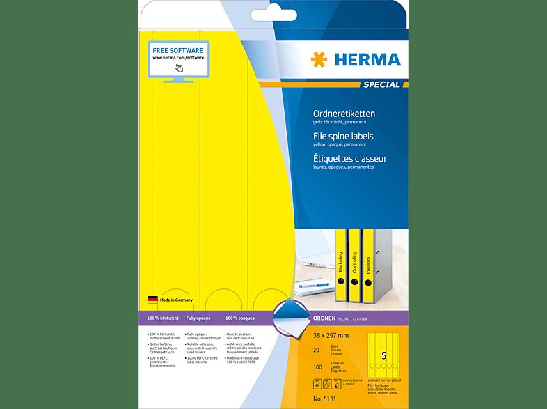 HERMA 5131 Ordneretiketten  38x297 mm A4 100 St.