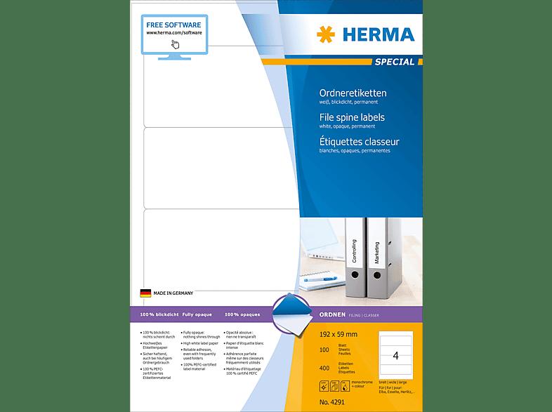 HERMA 4291 Ordneretiketten  192x59 mm A4 400 St.