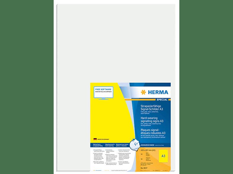HERMA 8037 Signal-Schilder  297x420 mm A4 50 St.