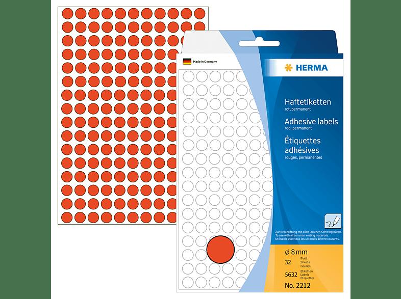 HERMA 2212 Vielzwecketiketten/Farbpunkte  rund Ø 8 mm  5632 St.