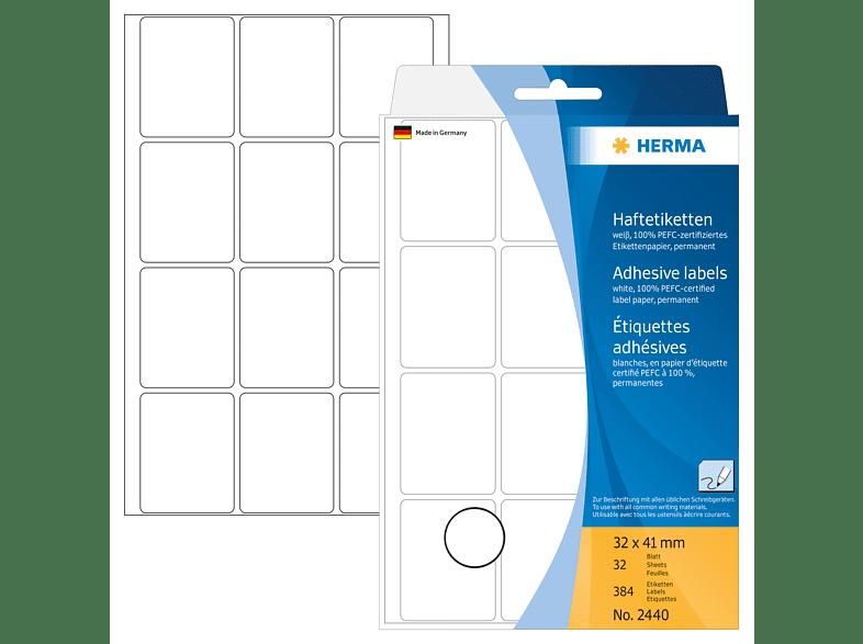 HERMA 2440 Vielzwecketiketten  32x41 mm  384 St.