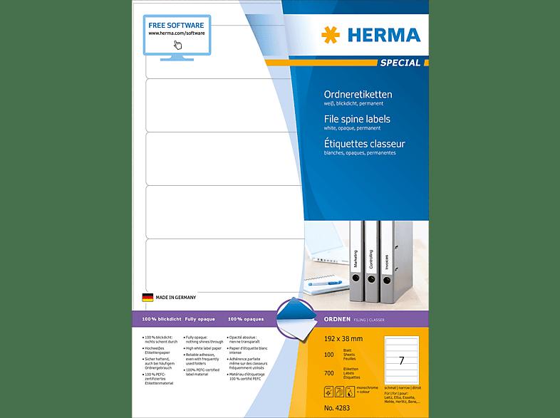 HERMA 4283 Ordneretiketten  192x38 mm A4 700 St.