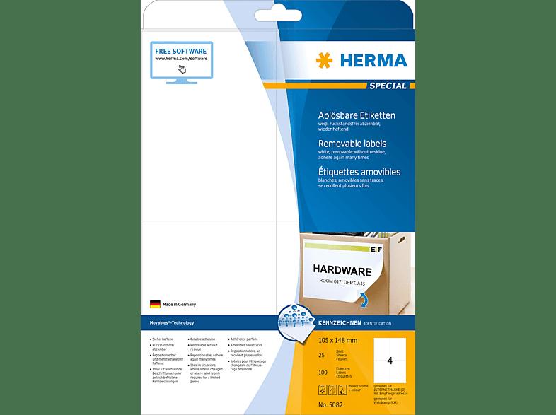 HERMA 5082 Ablösbare Etiketten  105x148 mm A4 100 St.