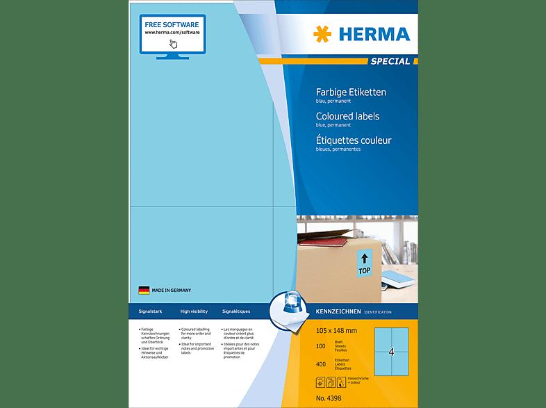 HERMA 4398 Farbige Etiketten  105x148 mm A4 400 St.