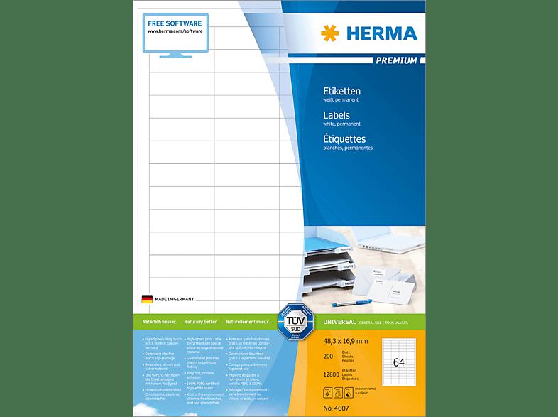 HERMA 4607 Etiketten Premium  48.3x16.9 mm A4 12800 St.