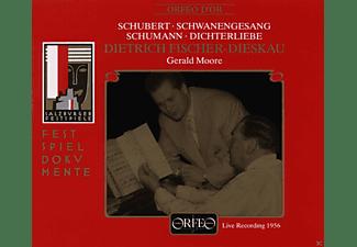 Dietrich Fischer-Dieskau, Gerald Moore - Schubert / Schumann: Schwanengesang - Dichterliebe  - (CD)