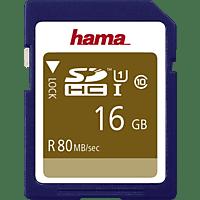 HAMA 124134, SDHC Speicherkarte, 16 GB, 80 Mbit/s