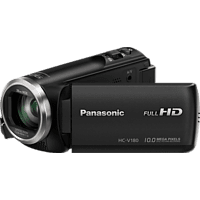 PANASONIC HC-V180 Camcorder, BSI MOS 2,5 Megapixel, 50xopt. Zoom