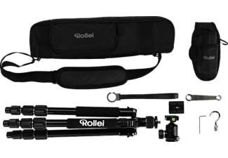 ROLLEI Stativ C50i Leichte Aluminium-Magnesium-Konstruktion, 3D-Kugelkopf, schwarz