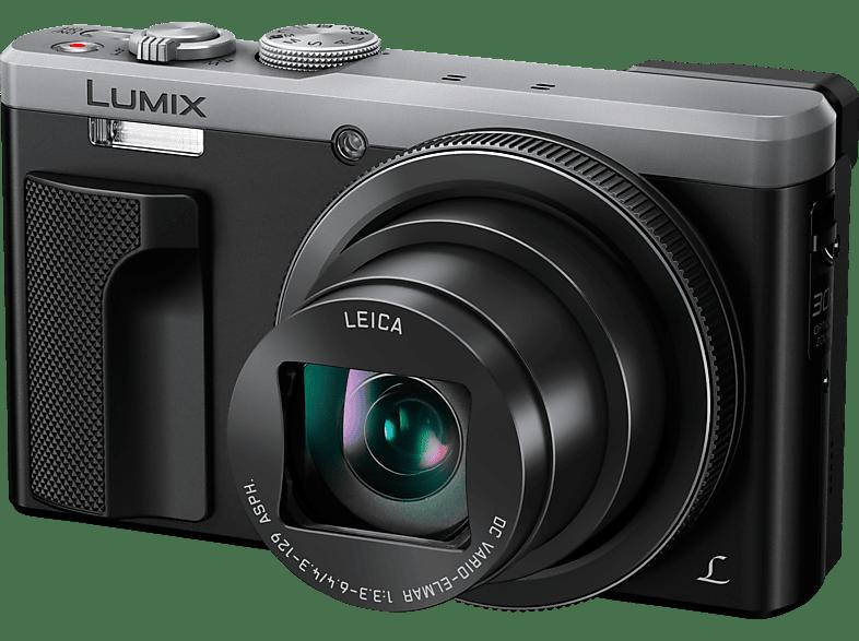 PANASONIC Lumix DMC-TZ81 LEICA Digitalkamera Schwarz/Silber, 18.1 Megapixel, 30x opt. Zoom, LCD-Display, WLAN
