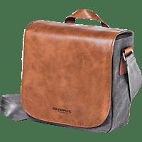 OLYMPUS Messenger Tasche Mini Objektivtasche , Braun/Schwarz