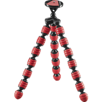 CULLMANN ALPHA 380 Dreibein Mini-Stativ, Rot, Höhe offen bis 305 mm